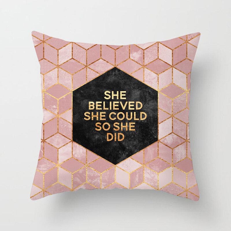 패션 스타일 Pillowcase 장식 소파 쿠션 케이스 침대 베개 커버 홈 장식 자동차 쿠션 커버 귀여운 베개 케이스 45*45cm