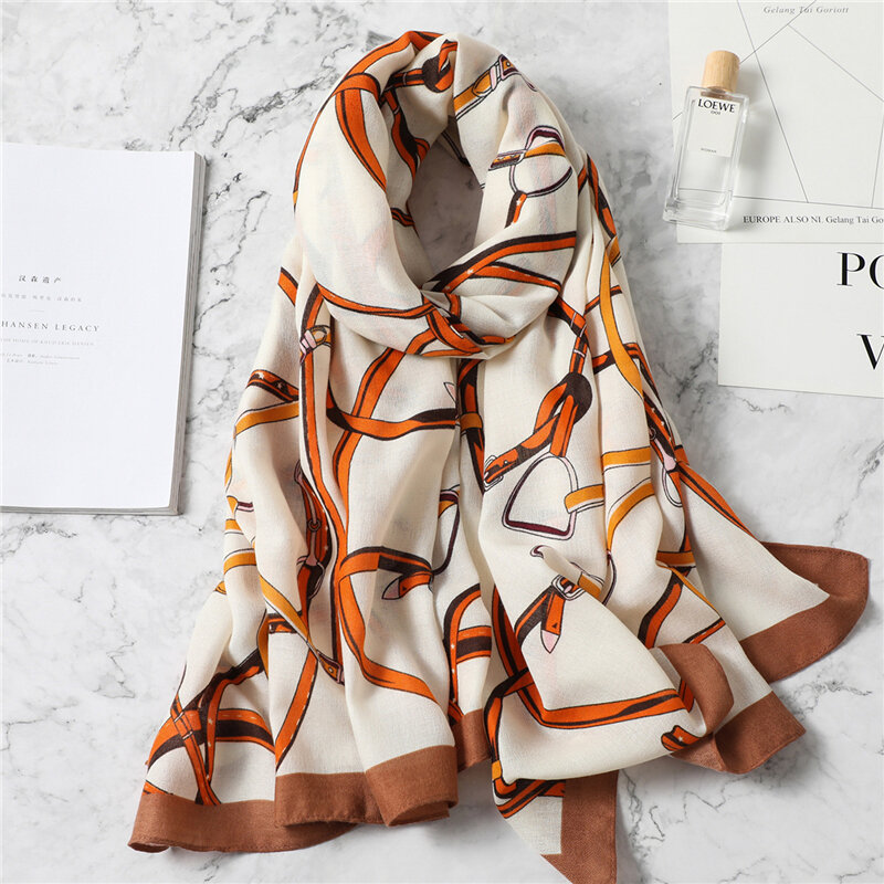 2021 New design brand women scarf fashion print cotton spring winter warm scarves hijabs lady pashmina foulard bandana plaid
