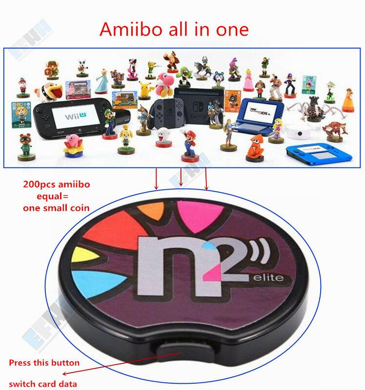 N2 النخبة المحاكي قارئ اتصال المدى القريب الكل في 1 Ntag215 ل جديد 3DS XL/التبديل NS لعبة بطاقة NFC عملة