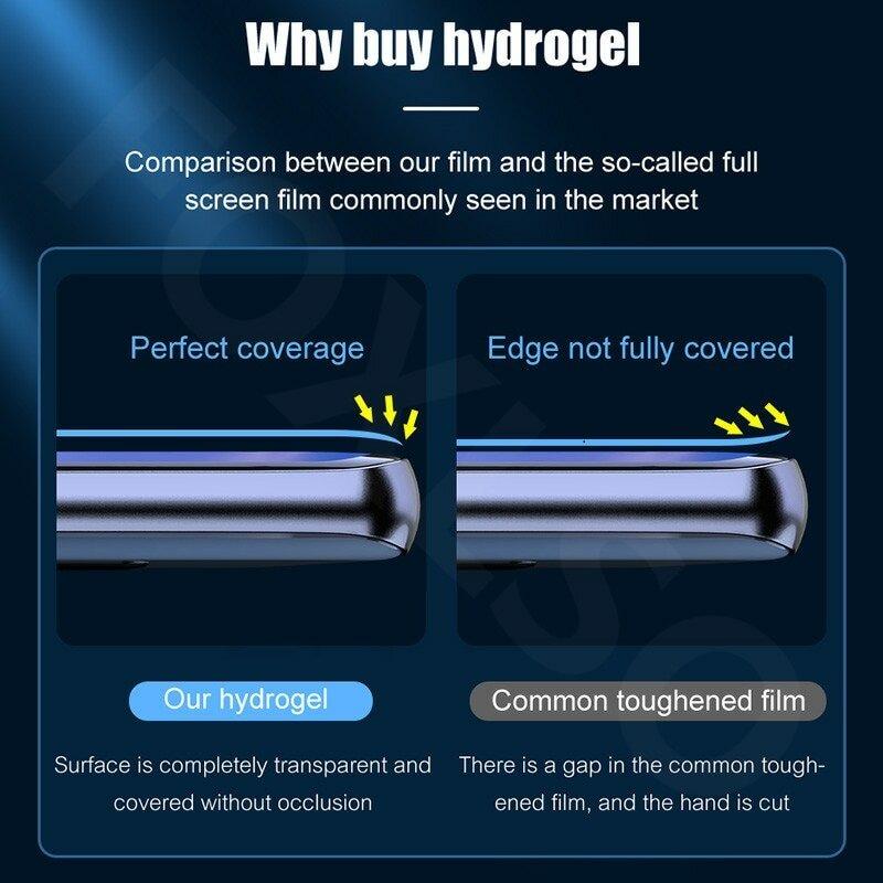 Protector de pantalla de hidrogel para Samsung Galaxy, Protector de pantalla de hidrogel para Samsung Galaxy S8 S9 S10 Plus S20 FE S21 Ultra, Note 20 10, 4 unidades