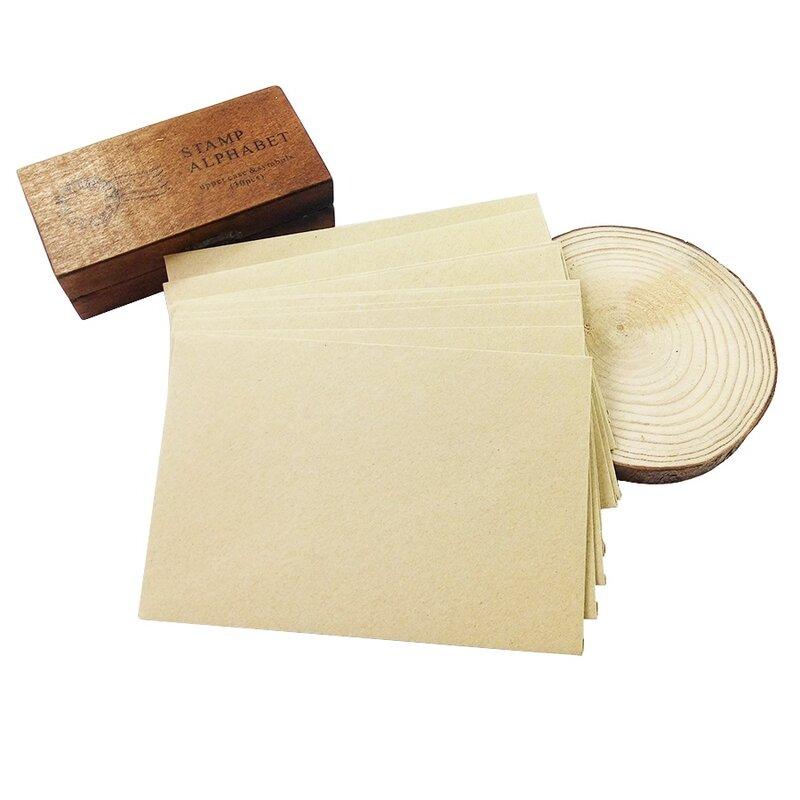 50 조각 거친 곡물 선물 카드 DIY 다기능 크래프트 종이 봉투 16*11cm 선물 카드 봉투 결혼식 생일 파티
