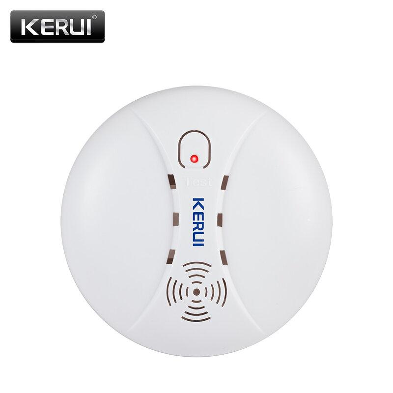 KERUI-detectores de fuego de humo, 433MHz, alarma inalámbrica para Wifi GSM PSTN, sistema de alarma de seguridad para el hogar, Kits de sensores de alarma de humo