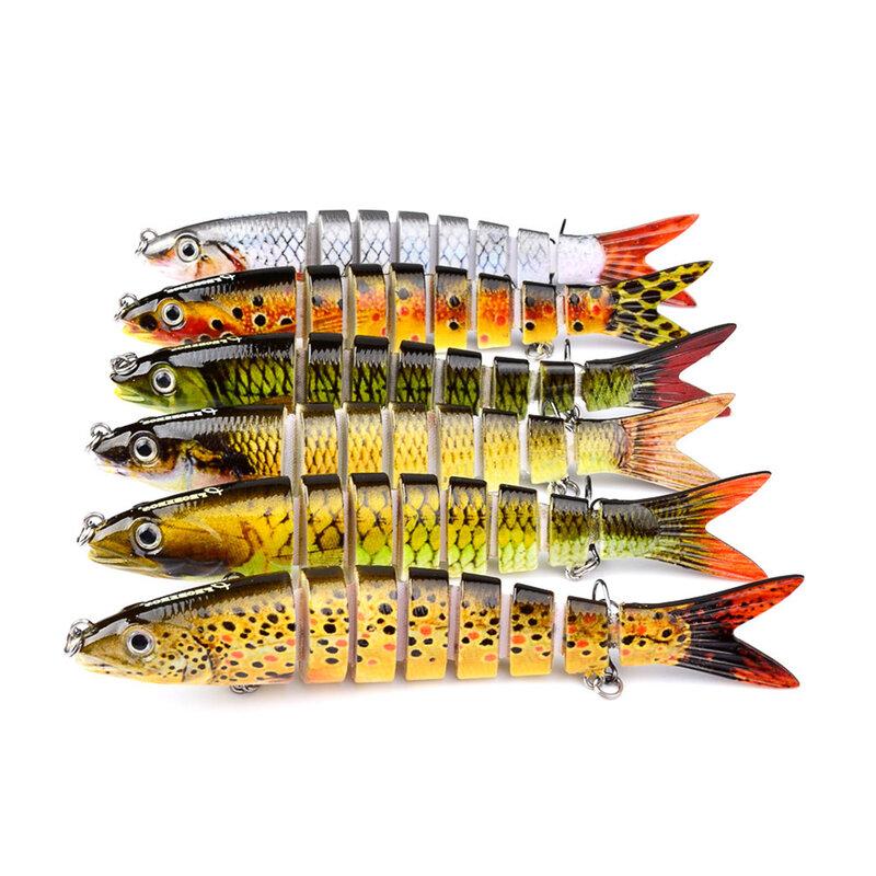 8ส่วนเหยื่อตกปลาเหมือนจริงLakeน้ำทะเลHardเหยื่อSwimbait 133มม./19G/6 # Hooksประดิษฐ์ตกปลาเหยื่อล่อ