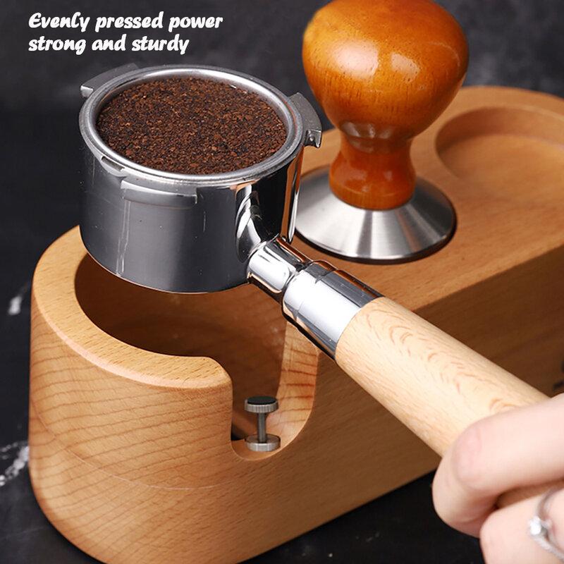 51/54/58มม.ไม้กาแฟ Tamper Holder Barista กาแฟ Espresso Tamper Latte Art ปากกา Tamper ผู้ถืออุปกรณ์เสริมกาแฟ