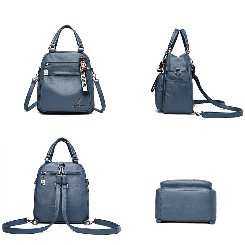 OLD TANG Solid Color Women's Bagpack Designer Pu Leather Shoulder Bags for Women 2020 High Quality Ladies BackPack Mochila