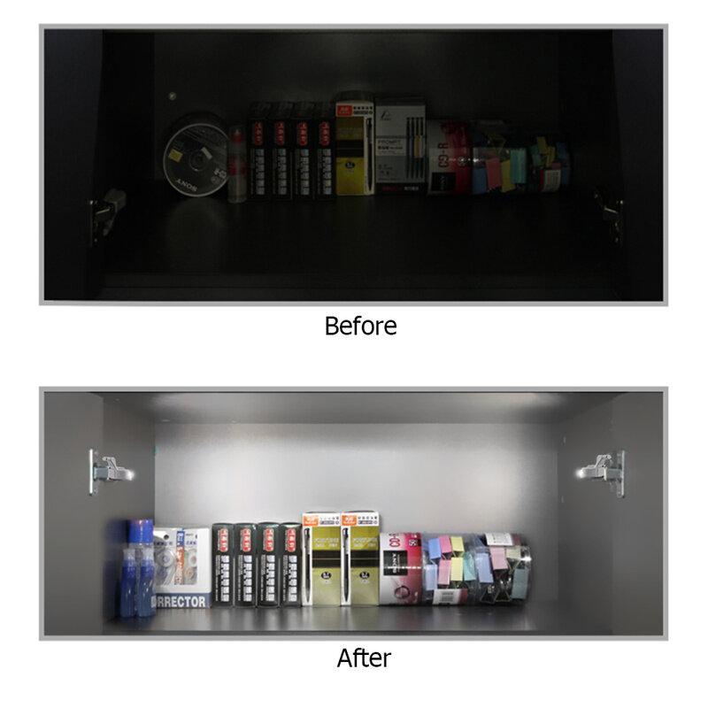 20pcs/10pcs 0.25W 유니버설 캐비닛 LED 빛 찬 장 옷장 옷장 내부 힌지 LED 센서 빛 주방 야간 조명