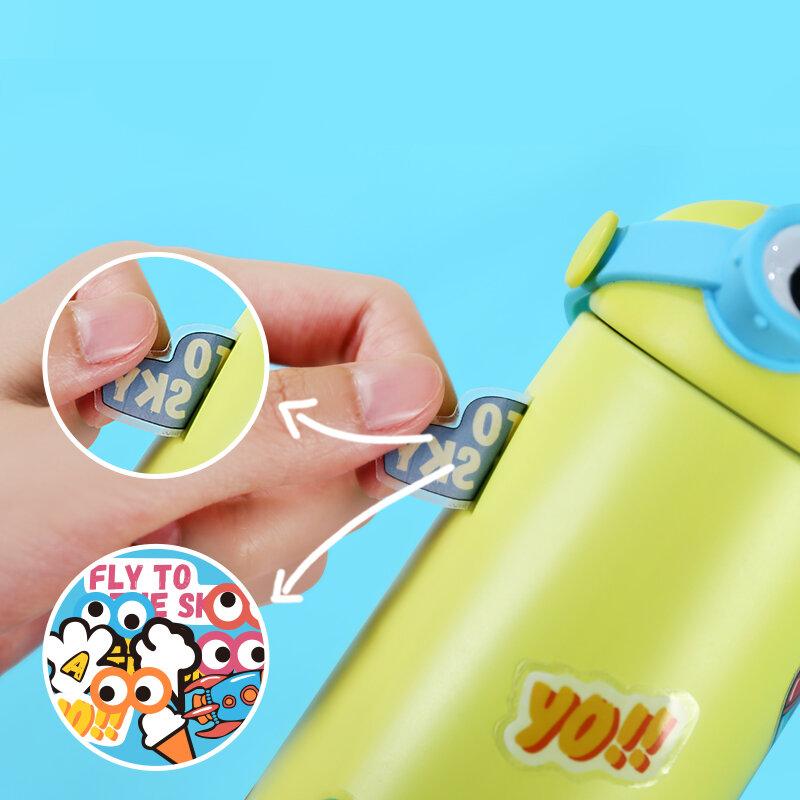 270Ml เด็กสแตนเลสน่ารัก Thermos ขวด Leakproof กระติกน้ำสูญญากาศเด็กของขวัญการ์ตูนขวดน้ำแก้วแก้ว