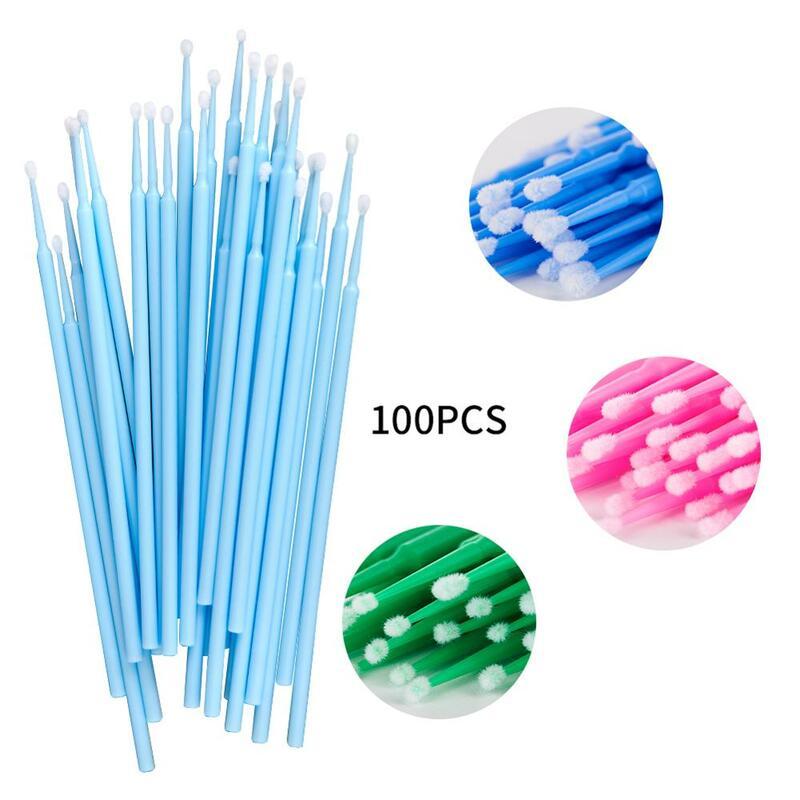 Microbrush 100 Teile/los Einweg wimpern microbrushes Verlängerung Werkzeuge Einzelnen Wimpern Entfernen Werkzeuge Arison Wimpern