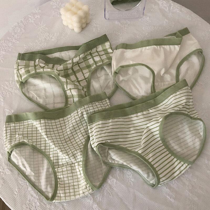 Ropa interior minimalista para mujer, calzoncillos japoneses, mallas para niña, paquete de cuatro, novedad de 2021