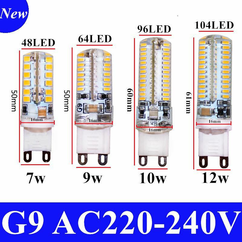 مصباح كوز الذرة LED مع شعاع 220 درجة ، 7/9/10/12W ، AC 2835 V ، G9 ، SMD ، 360 ، عرض خاص