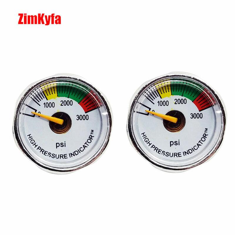 Paintball PCP Luftgewehr Manometer 2 stücke 3000psi Mini Micro Manometer Manometer 1/8npt