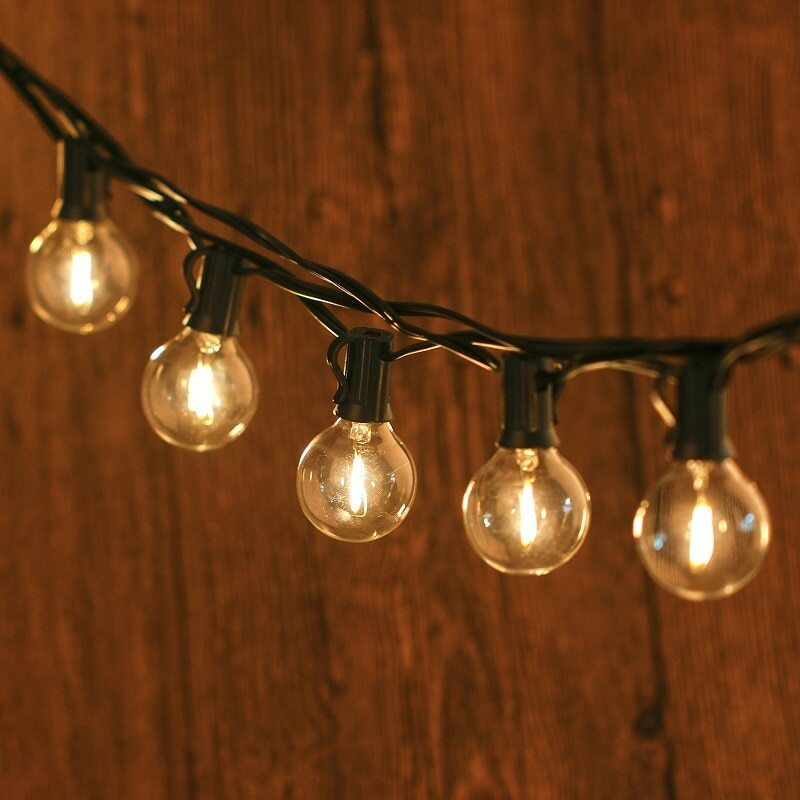 استبدال لمبة سلسلة G40 LED ، لمبة E12 ، قاعدة حامل المقبس ، لتزيين الحدائق ، المنزل ، 120 فولت/220 فولت ، 25 قطعة