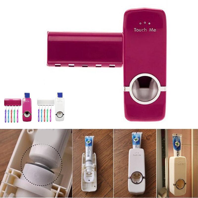 ชุดอุปกรณ์ห้องน้ำแปรงสีฟันAutomatic Toothpaste Dispenserผู้ถือแปรงสีฟันWall Mount Rackห้องน้ำชุดเครื่องมือ