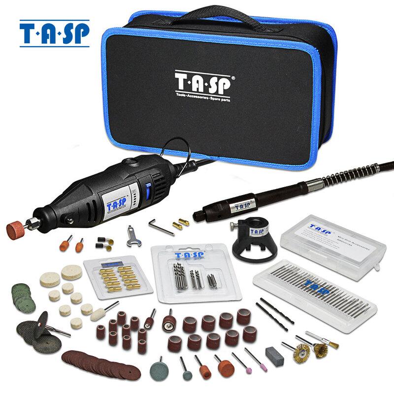 TASP 230V 130W Dremel Dreh Werkzeug Set Elektrische Mini Bohrer Engraver Kit mit Zubehör Power Tools für Handwerk projekte