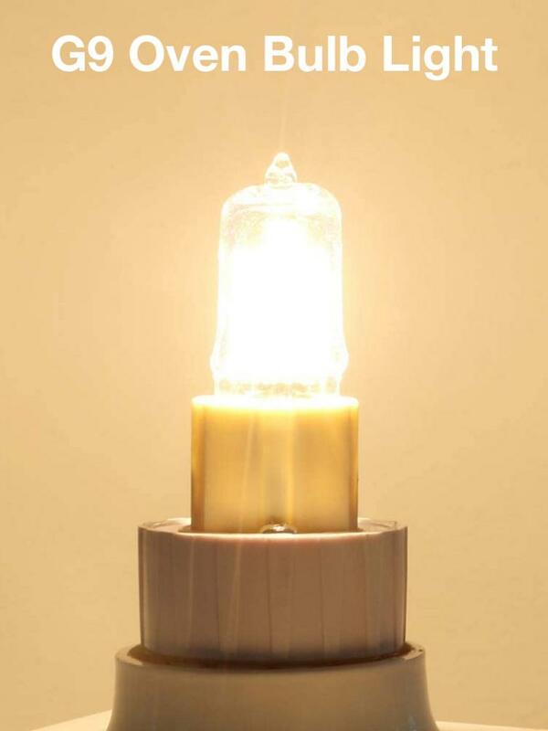 40W G9 오븐 조명 고온 내성 내구성 할로겐 전구 램프 냉장고 오븐 팬용