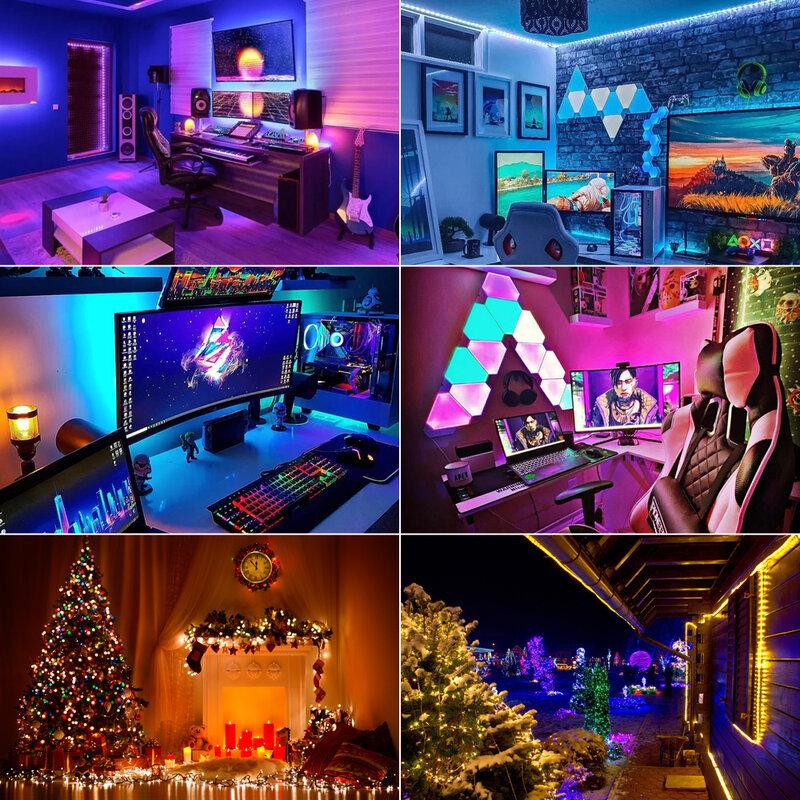 Tiras de luces LED con USB, Bluetooth 5050, SMD 0,5 M, 1M, 2M, 3M, 4M, 5M, DC5V, resistente al agua, diodo Flexible, iluminación de fondo de pantalla de escritorio de TV