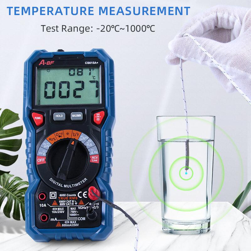Digital Multimeter Auto Range Voltmeter Amperemeter Tester A-BF CS615A +/CS615D + True RMS Intelligente Hohe Präzision Anti-brennen