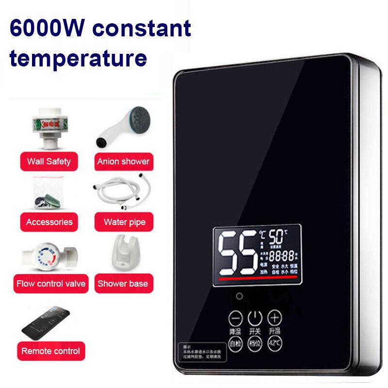 DMWD Instant Tankless Elektrische Wasser Heizung Wasserhahn Küche schnelle Erwärmung hahn Dusche Bewässerung heizungen bad led-anzeige