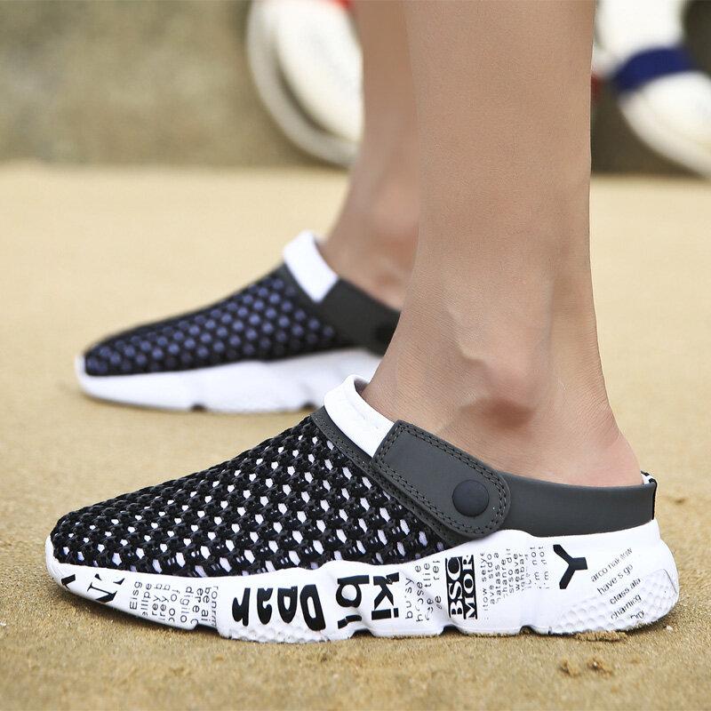 CeLai – sandales d'été en maille pour hommes, sabots de plage, taille 39-46