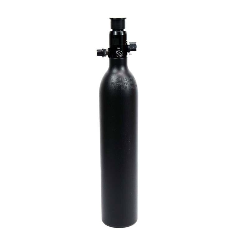 Nuovo PCP Paintball cilindro serbatoio ad alta pressione 0.5L serbatoio aria bottiglia da caccia 3000psi/200BAR M18 * 1.5 filetto nero