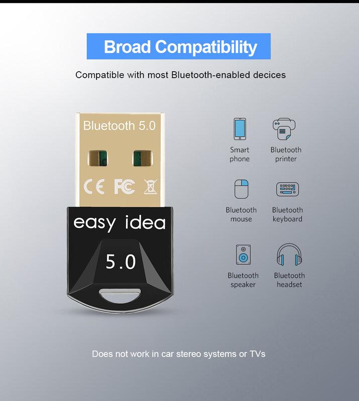 لاسلكي USB بلوتوث محول 5.0 للكمبيوتر بلوتوث دونجل USB بلوتوث 4.0 قطعة محول بلوتوث استقبال الارسال