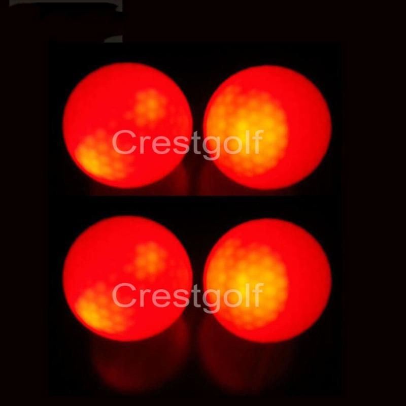 3Pcs CRESTGOLF ต่อแพ็ค Hi-Q USGA ลูกกอล์ฟ Led สำหรับ Night การฝึกอบรม Luxury กอล์ฟลูก6สี