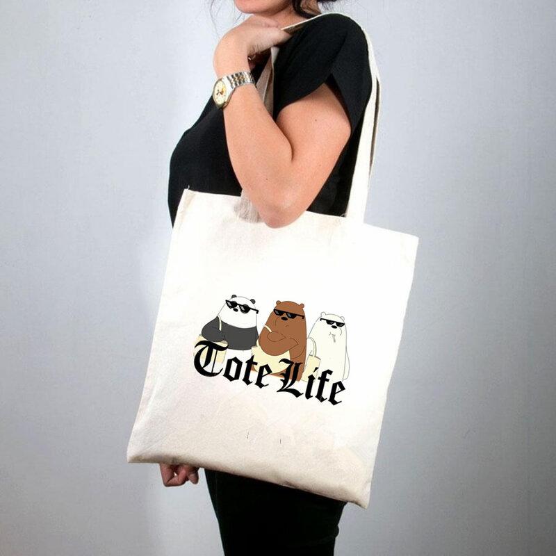 2021 쇼핑 여성 하라주쿠 쇼핑 핸드백 여자 어깨 쇼핑 가방 레이디 캔버스 가방, 세계 저장 인쇄 토트 백