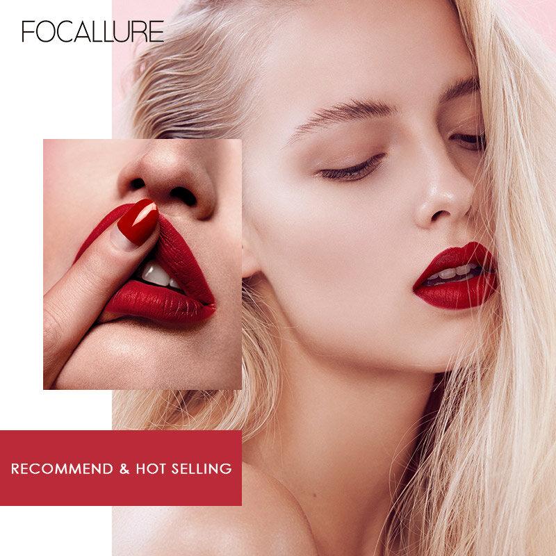 FOCALLURE 매트 립글로스 섹시한 리퀴드 립스틱 매트 롱 라스팅 방수 화장품 뷰티 24 시간 메이크업 립글로스 유지