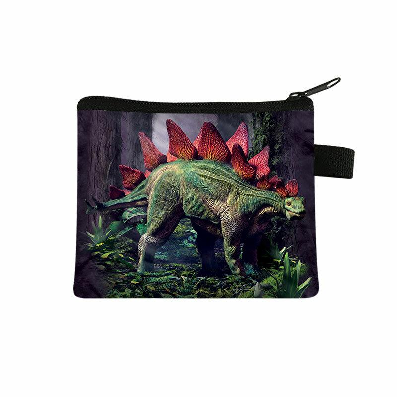 공룡 동전 지갑 십대 지갑 소년 소녀 동전 돈 가방 어린 소녀 지갑 핸드백 키 신용 카드 홀더 가방