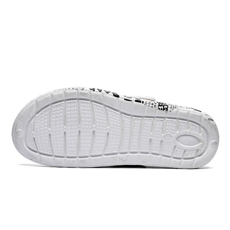 Hommes Sandales De Plage En Caoutchouc Chaussures D'été Jardin Sandalias Playa Sandalia Respirant Sabots Hommes Zuecos Hombre Chola Sans Lacet Extérieur