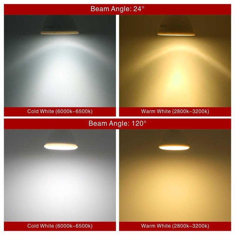 MR16 GU10 E27 E14 Lampada LED 전구 6W 220V Bombillas LED 램프 스포트라이트 Lampara 스포트 라이트 24/120 차가운/따뜻한 화이트