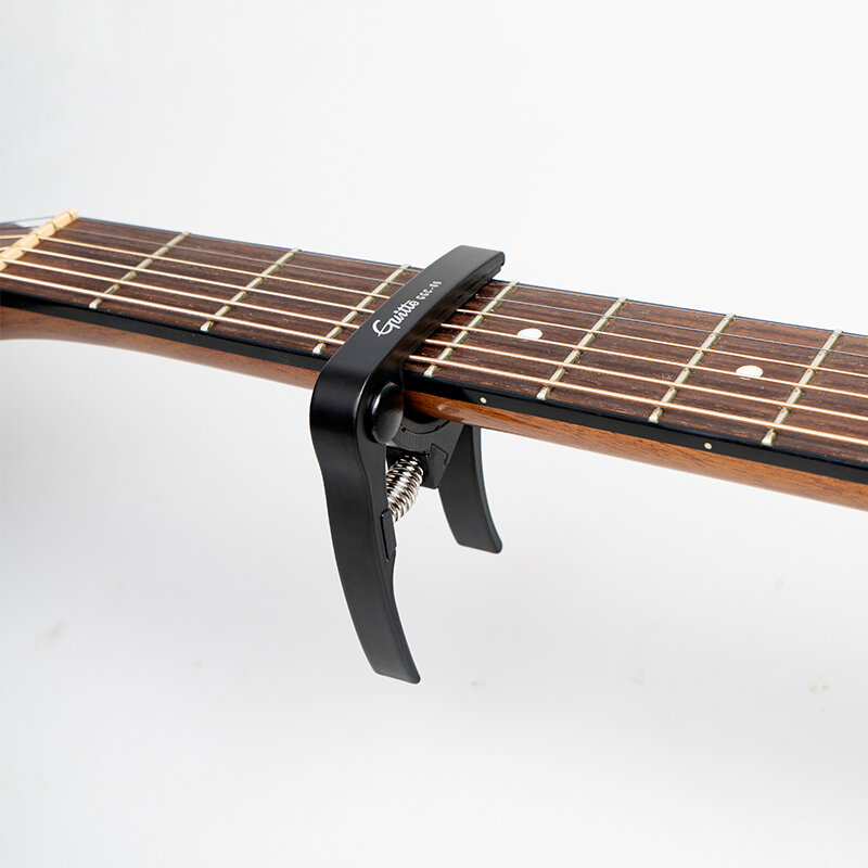 GGC-06 Metall Gitarre Capo Transponieren Clips Stimme Akustische Gitarre Capo Tuning Clamp Key Silber Schwarz Musik Instrument Zubehör