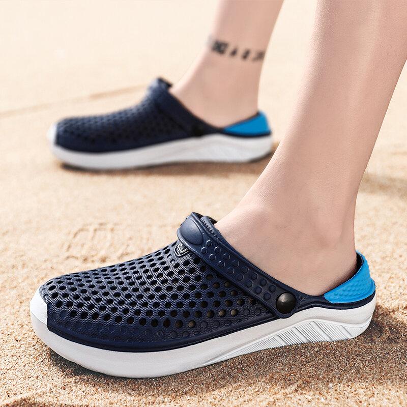 PULOMIES — chaussures d'été pour femmes et hommes, sabots mixtes parfaits pour jardinage, la plage et la salle de bain ou spa, style décontracté et séchage rapide