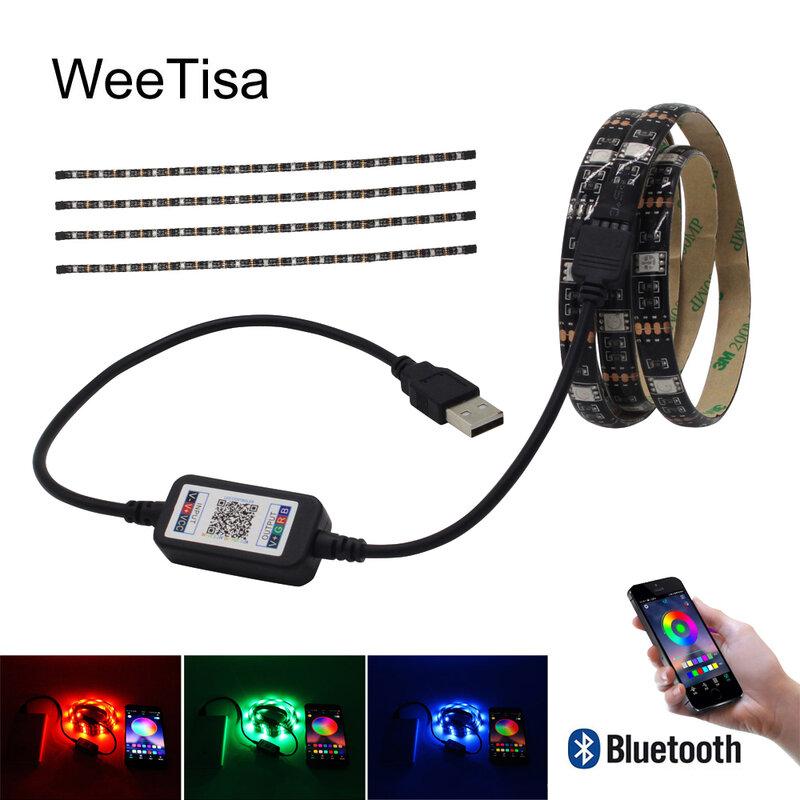 LED 스트립 빛 블루투스 USB 방수 SMD 5050 TV 백라이트 Tria 5V RGB LED 테이프 스트라이프 리본 Fita Bais 조명