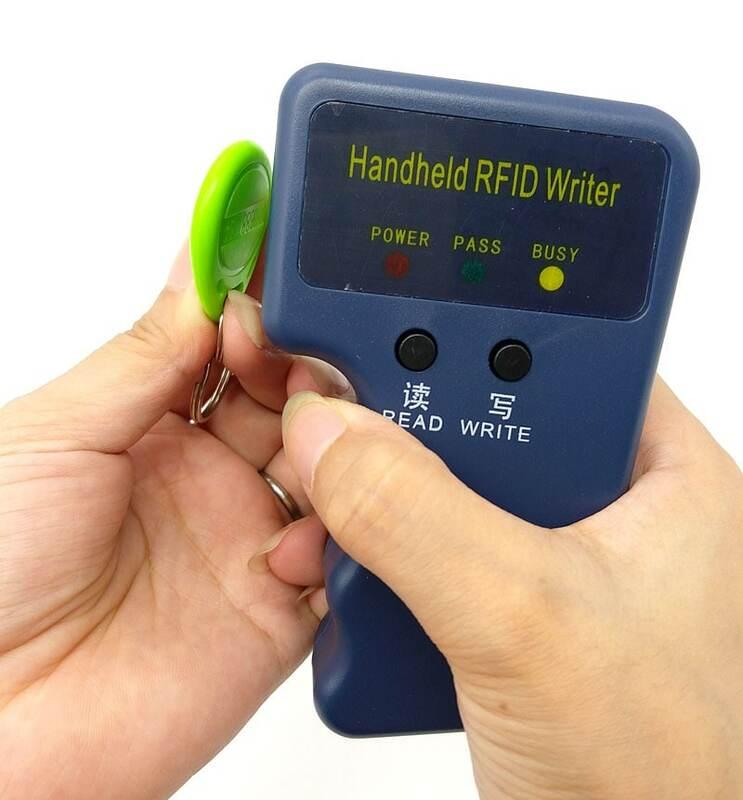 Handheld 125Khz lettore di Schede di RFID Copier Writer Duplicator Programmatore Copia ID Card + 5pcs EM4305 ogni Scrivibile tag