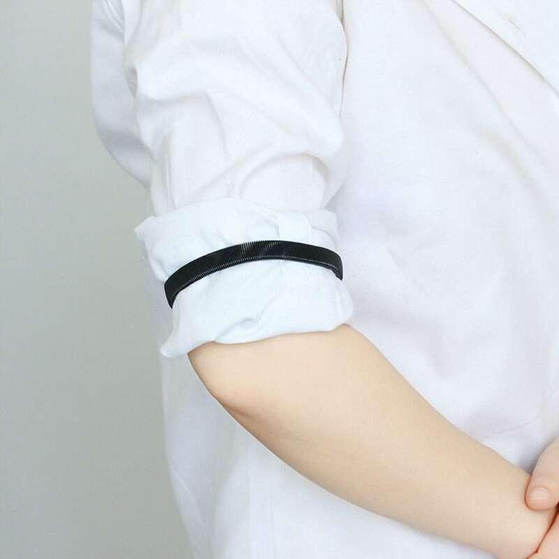 1PC Unisex Stretchy Elastic Metal Sleeve Garters Mens Elasticated Arm Band Shirt Sleeve Holder