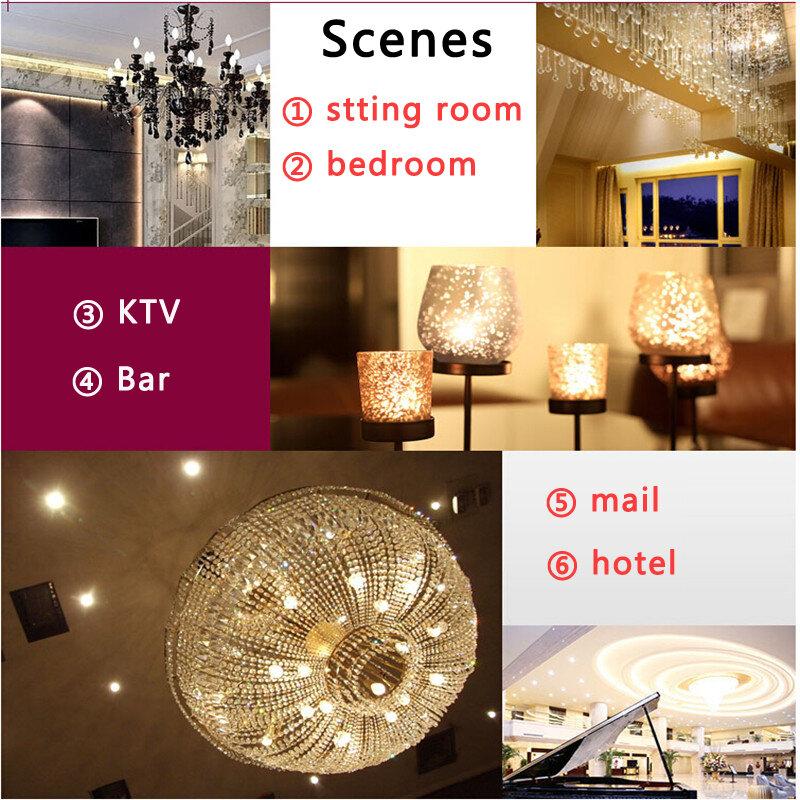 لمبة led كريستالية من السيليكون ، مصباح هالوجين LED جديد G9 AC220V 3014 7W 9W 10W 12W 20-35W لغرفة النوم الكريسماس