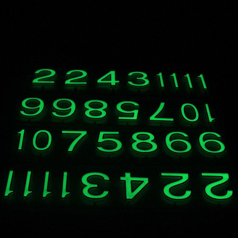 طقم تصليح ساعة حائط كوارتز ، آلية حركة رقمية عربية ، توهج في الليل ، مادة آمنة