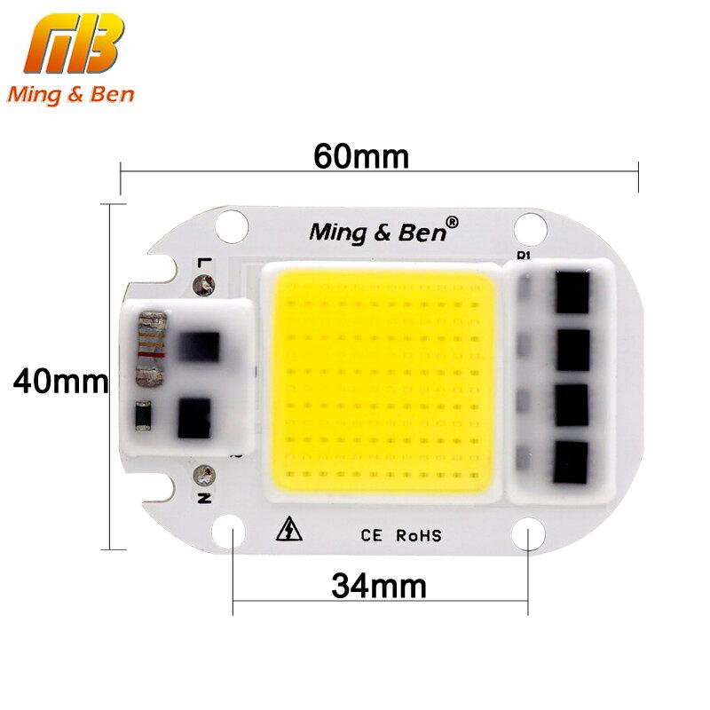 20W 30W 50W LED COB Lampe Chip LED Objektiv Reflektor 220V Smart IC DIY Für LED flutlicht Scheinwerfer Benötigen Kühlkörper für Kühlung