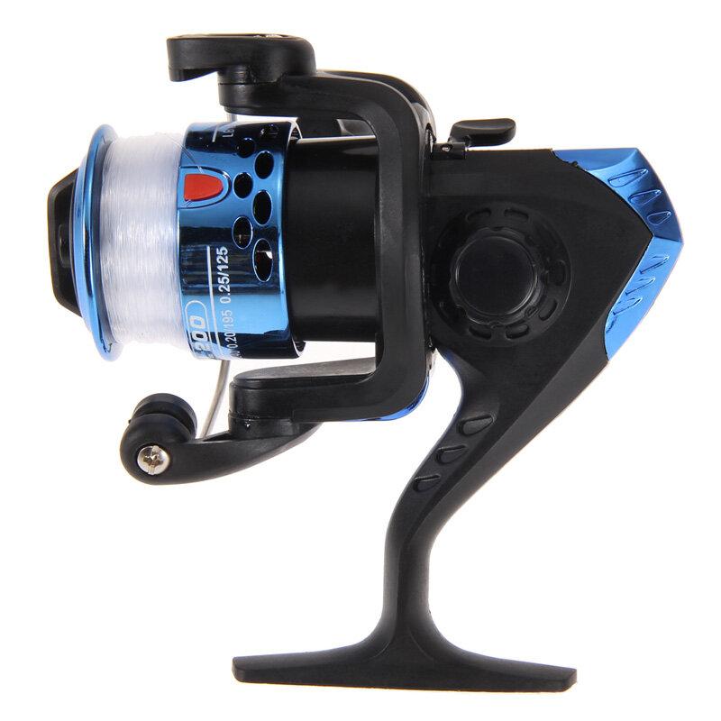 Corps en aluminium moulinet de pêche avec 0.3mm ligne de 40 mètres moulinet de pêche haute vitesse g-ratio 5.2:1 moulinets de pêche avec ligne