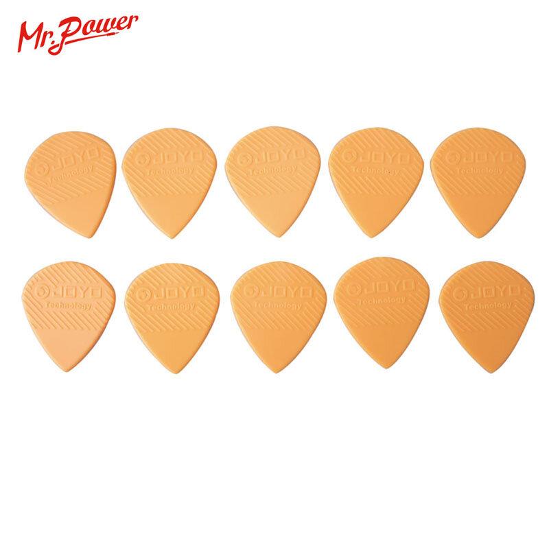 10Pcs JOYO plettri per chitarra nera antiscivolo per chitarra acustica elettrica basso Folk 1.4 materiale in acciaio plastico resistente all'usura