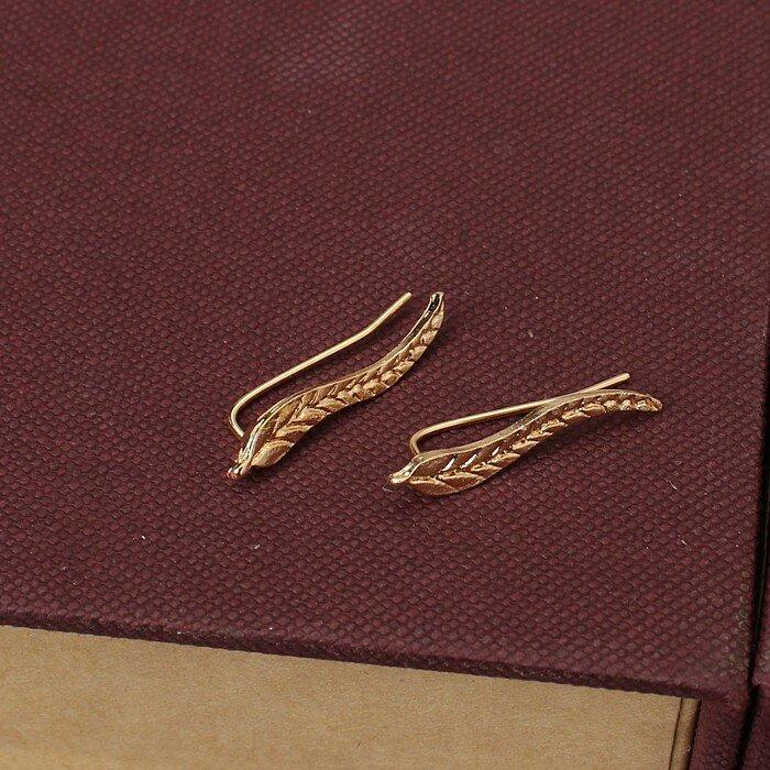 2020 و NewVintage مجوهرات رائعة الذهب اللون ليف أقراط الحديثة جميلة ريشة وأقراط للنساء