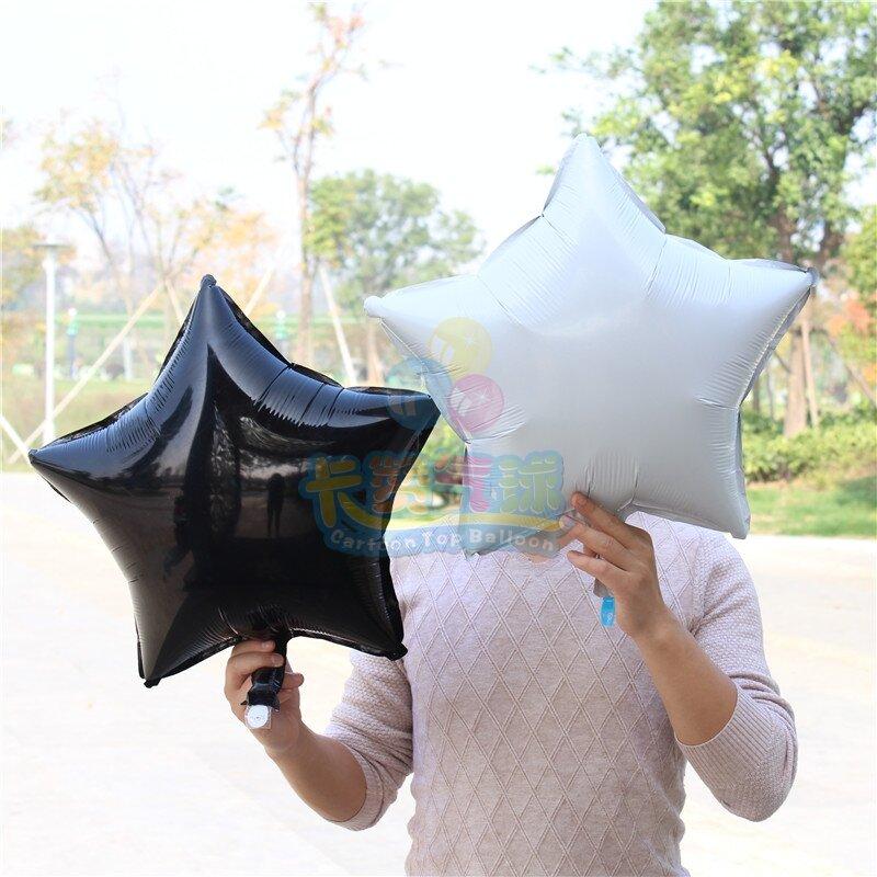 """5 pièces/lot 18 """"pouces feuille étoile ballon mixte coeur ballon hélium métallique globos pour mariage/bébé décorations de fête d'anniversaire adulte"""