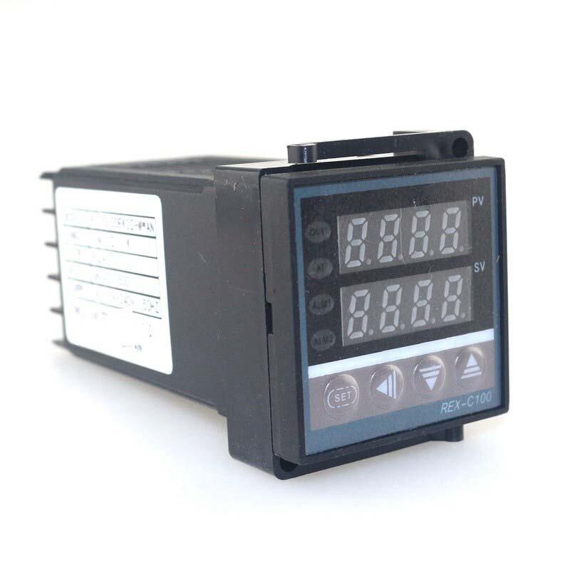 Ketotek المزدوج الرقمية PID درجة الحرارة ترموستات تحكم REX-C100 الحرارية K SSR 40A SSR-40DA 110V 220V برمجة