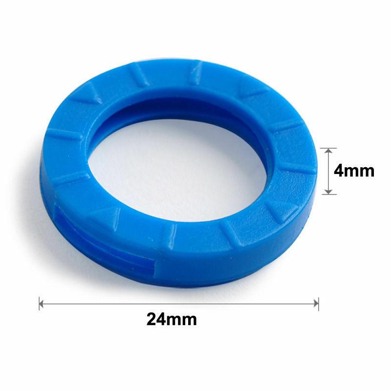 OPPOHERE-أغطية مفاتيح مطاطية مجوفة ، ألوان مختلطة ، دائرية ، ناعمة ، سيليكون ، غطاء ، سلسلة مفاتيح ، 8 قطع/16 قطعة