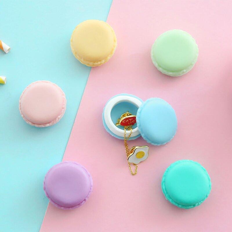 6 teile/los Mini clips dispenser Macaron lagerung box Candy organizer für radiergummi zakka Geschenk Schreibwaren Büro schule liefert 5028