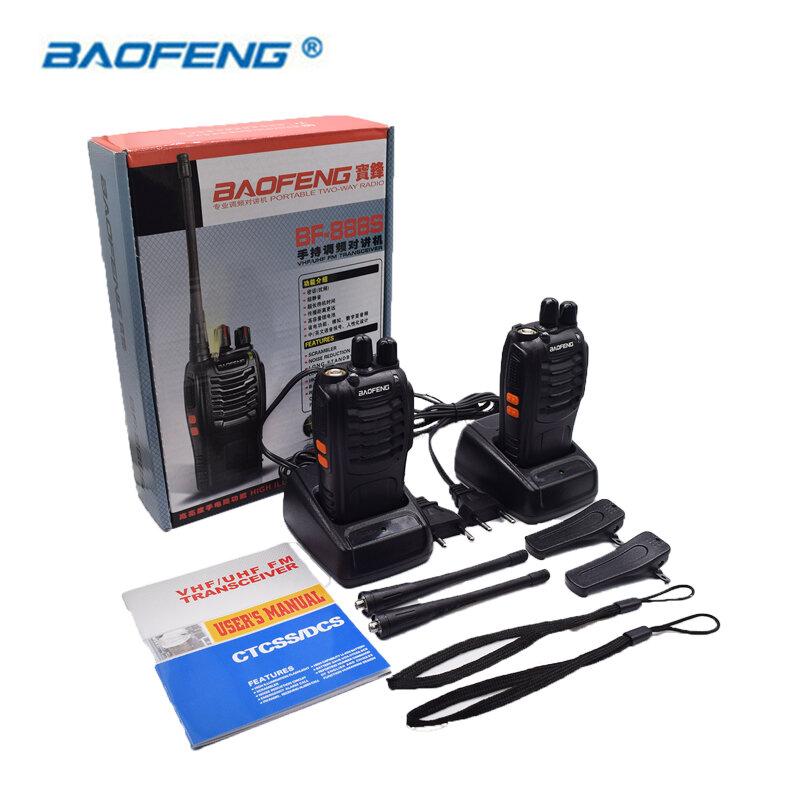 2 قطعة Baofeng BF-888S اسلكية تخاطب المحمولة راديو 16CH UHF 400-470MHz اتجاهين راديو الارسال