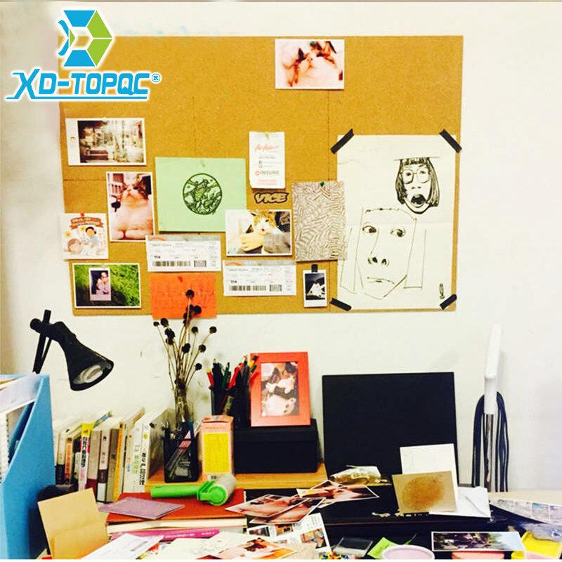 """Bacheca Sughero 30*30cm Stick di Sughero 12 """"x 12"""" One Piece adesivo da parete in Sughero Bacheca Memo Pin Board foto bacheche Bacheca Sughero"""