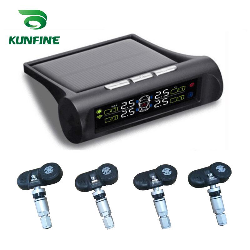 Sistema De Supervisión De Presión De Neumáticos Tpms Para Coche Inteligente Energía Solar Pantalla Lcd Digital Sistemas De Alarma De Seguridad De Coche Sensor Interno Electrónica Para Automóvil