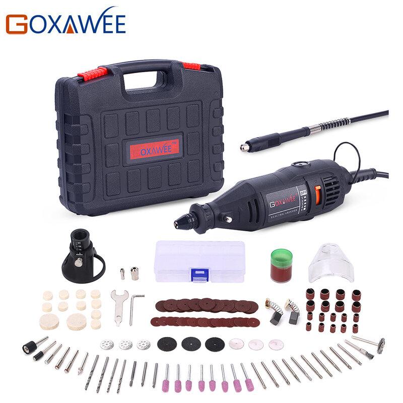 GOXAWEE 110V 220V Utensili Elettrici Elettrico Mini Trapano Con 0.3-3.2mm universale Mandrino E Shiled Rotary Strumenti per Dremel 3000 4000